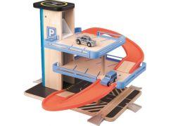 Woody Garáž s výtahem a příslušenstvím - dřevo, plast
