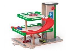 Woody Garáž s výtahem a SIKU autíčky dřevo a plast