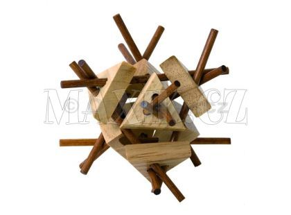 Woody Hlavolam Tyčka s trojúhelníky