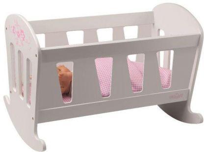 Woody Kolébka pro panenky Trendy bílá - Poškozený obal