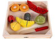 Woody Krájení na prkénku ovoce s melounem