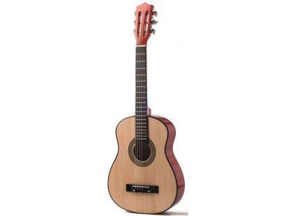 Woody Kytara dřevěná kovové struny 80 cm