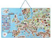 Woody Magnetická mapa EVROPY společenská hra 3 v 1 v AJ