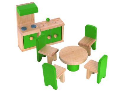 Woody Nábytek do domečku - Kuchyň s jídelnou