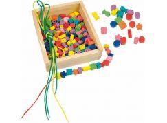 Woody Navlékací korále v krabičce 200ks