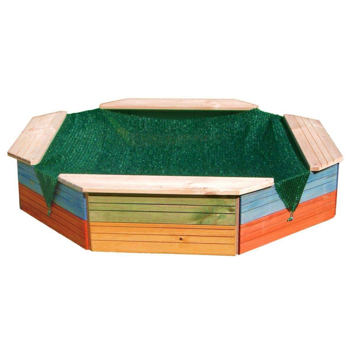 Woody Pískoviště s plachtou dřevěné - Poškozený obal