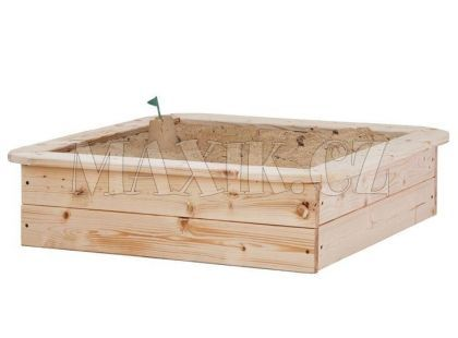 Woody Pískoviště dřevěné natur 80x80cm