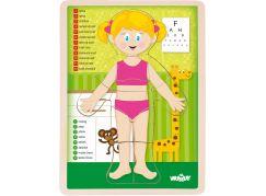 Woody Puzzle Lidské tělo - Holka SK
