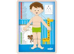 Woody Puzzle Lidské tělo - Kluk CZ