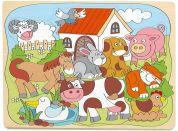 Woody Puzzle na desce Domácí veselá zvířátka
