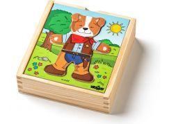 Woody Puzzle šatní skříň Pejsek 18 dílů