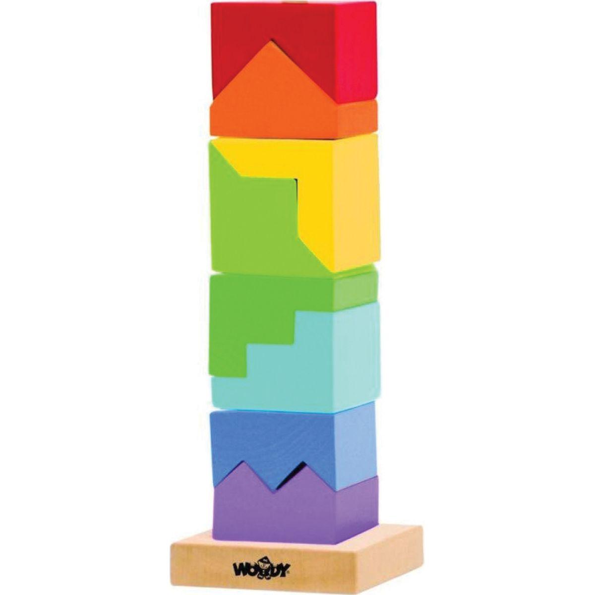 Woody Skládací věž barevná