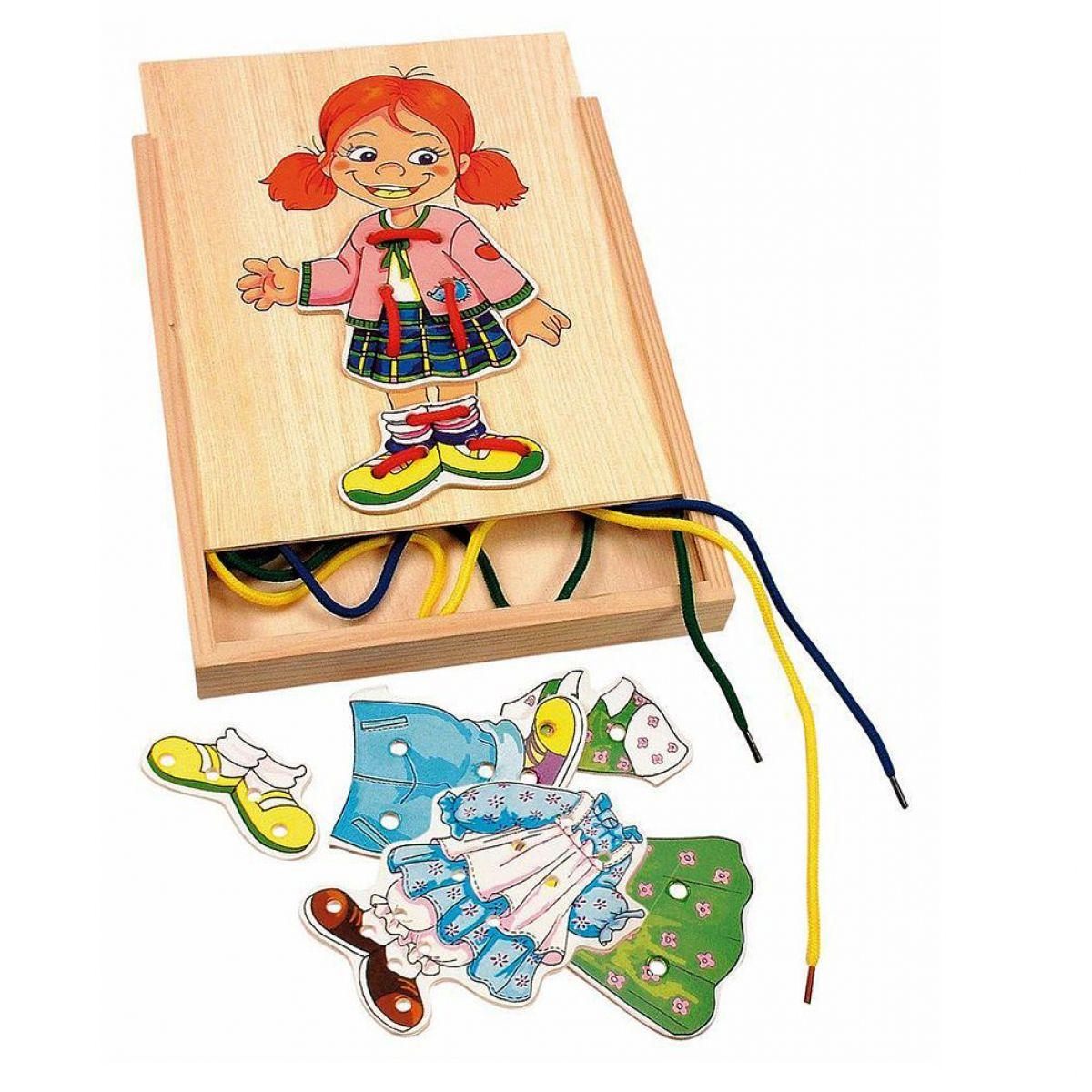 Woody Šněrovací šatní skříň Holčička