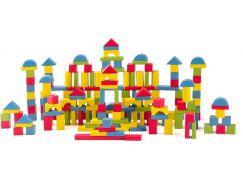 Woody Stavebnice kostky přírodní a barevné 200 ks