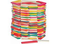 Woody Stavebnice přírodní/barevná Simona 200ks