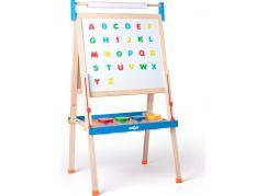 Woody Tabule ABC s písmeny s rolí papíru a kelímky