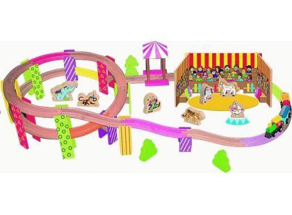 Woody Vláčkodráha Mašinka cirkus 70 dílů