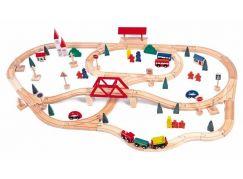 Woody Vláčkodráha s mostem a nádražím