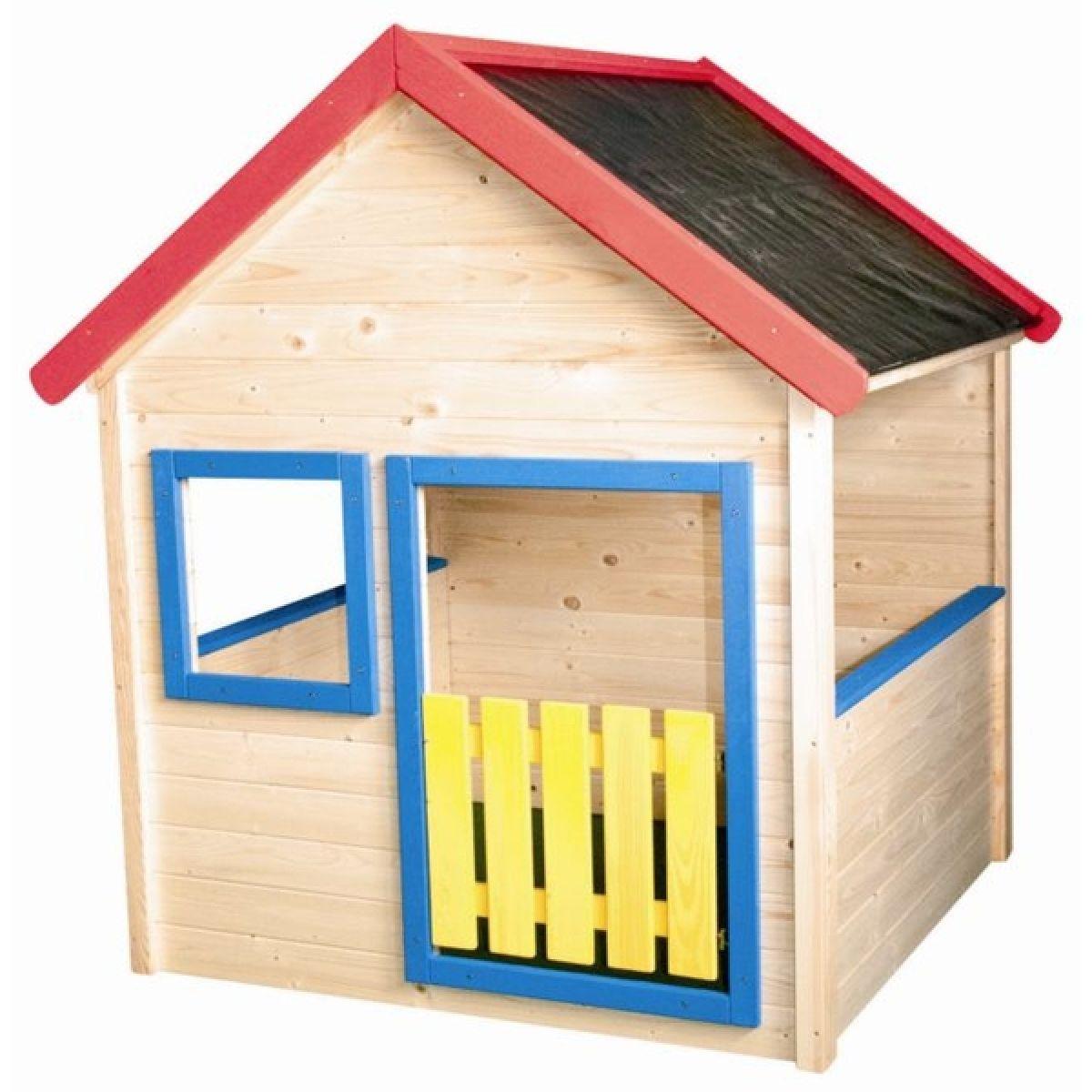 Woody Zahradní domeček dřevěný s barevným lemováním