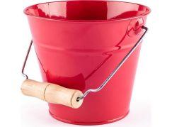 Woody Zahradní kyblík červený kov