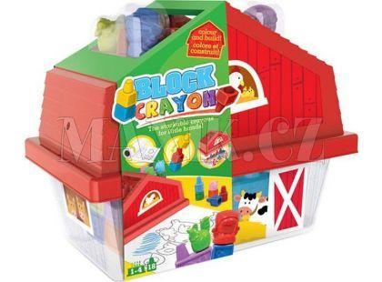Wooky Block Crayon Domeček 18ks pastelek