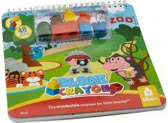 Wooky Block Crayon Omalovánky ZOO 7ks pastelek