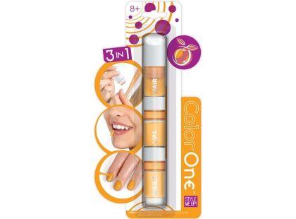 Wooky Style Me Up 3v1 Lak, lesk na rty a křídy na vlasy - Oranžová