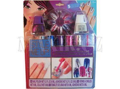Wooky Style Me Up Perfektní fóliové nehty fialové
