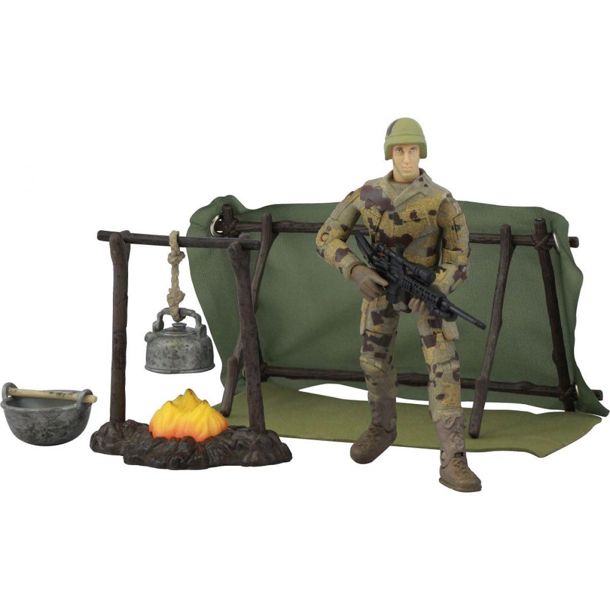 World Peacekeepers Figurka vojáka s doplňky - Voják u ohně