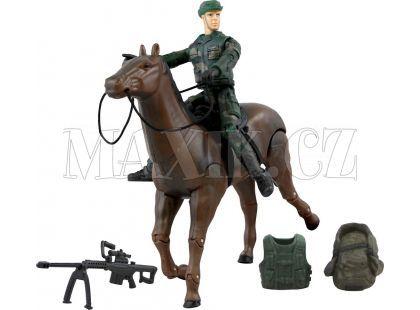 World Peacekeepers Figurka vojáka s doplňky - Voják na koni