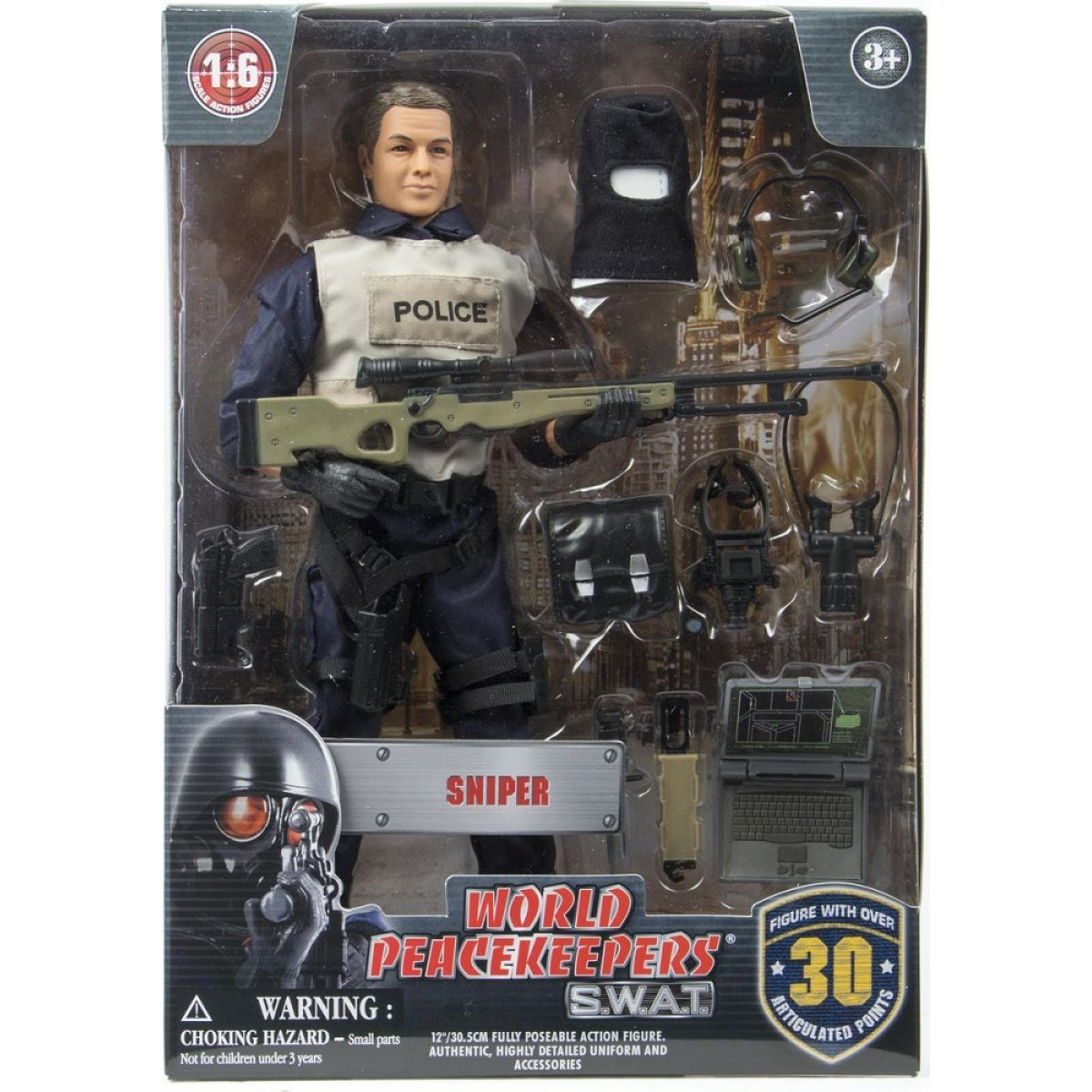 World Peacekeepers S.W.A.T. figurka 30,5cm - Sniper