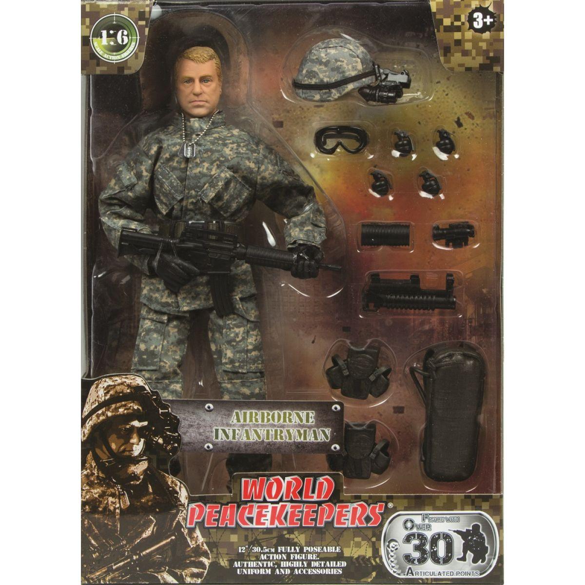 World Peacekeepers Voják figurka 30,5cm - Airborne Infantryman #2