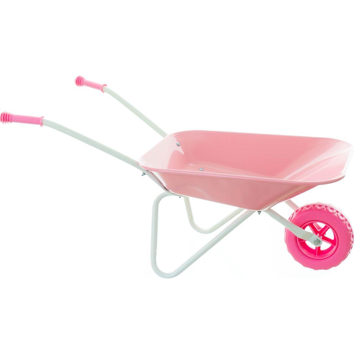 Yupee Dětské kolečko na písek kovové růžové