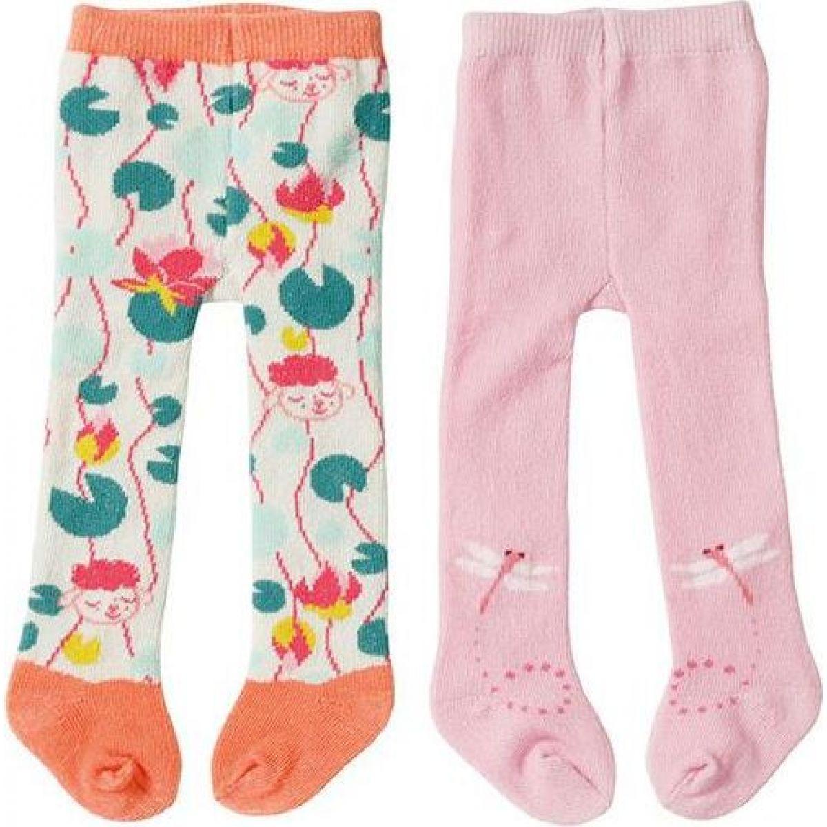 Zapf Creation Baby Annabell® Punčocháče 2ks 43 cm růžové+oranžové s ovečkou