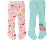 Zapf Creation Baby Annabell® Punčocháče 2ks 43 cm zelené+růžové s ovečkou