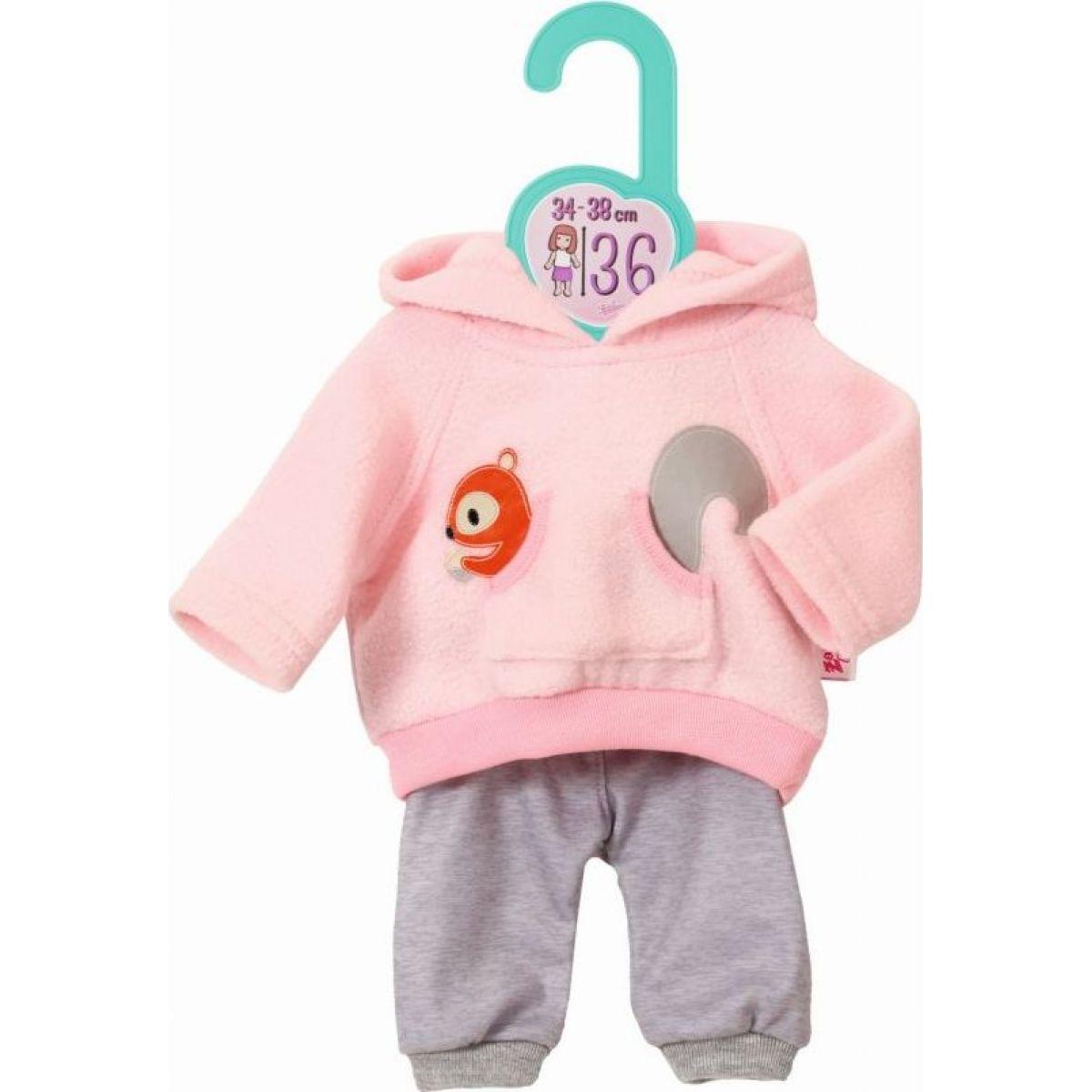 Zapf Creation Dolly Moda Teplákovka růžová, 36 cm