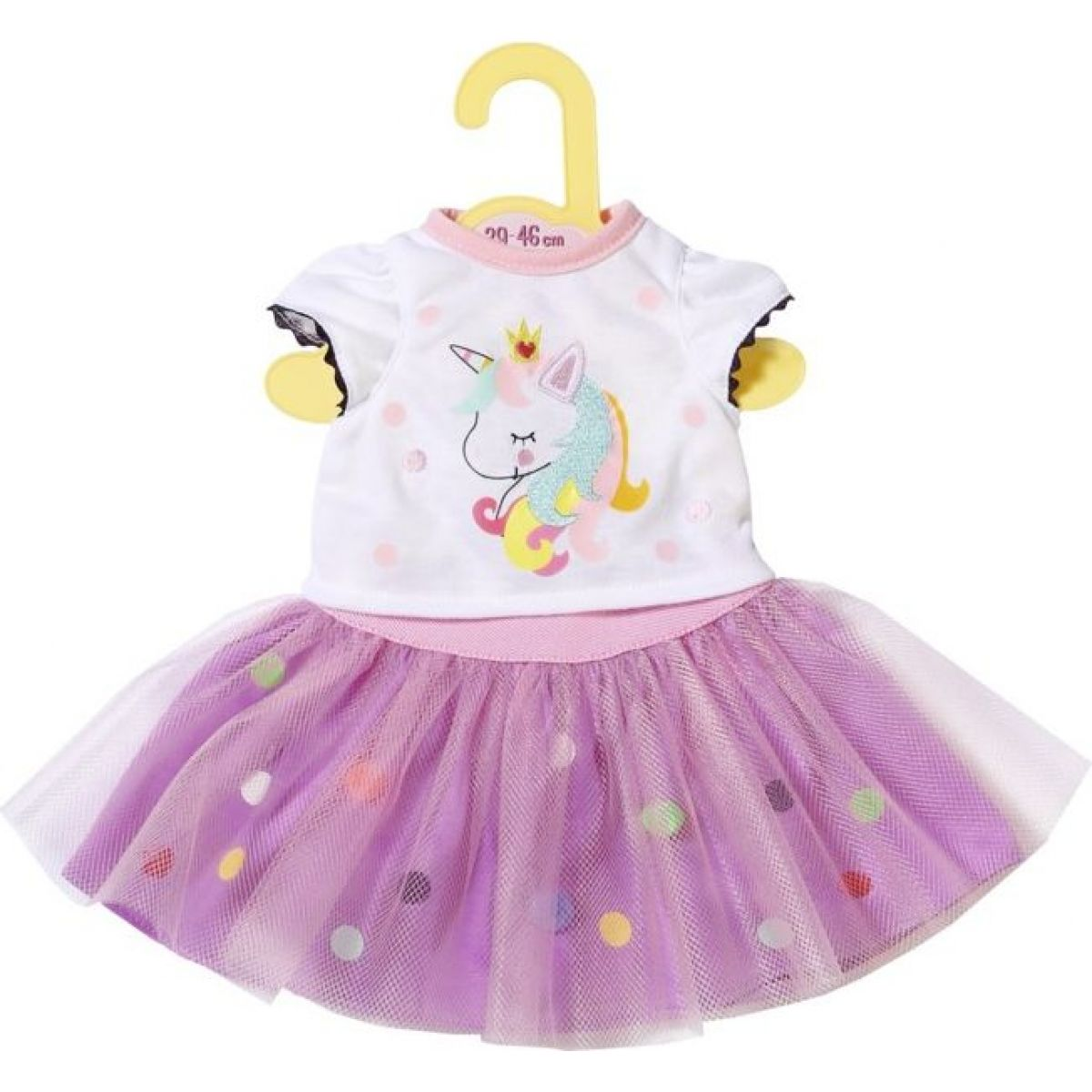 Zapf Creation Dolly Moda Tričko s tutu sukýnkou, 43cm