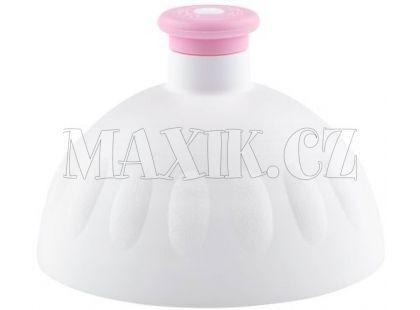 Zdravá lahev Kompletní víčko bílé - zátka růžová