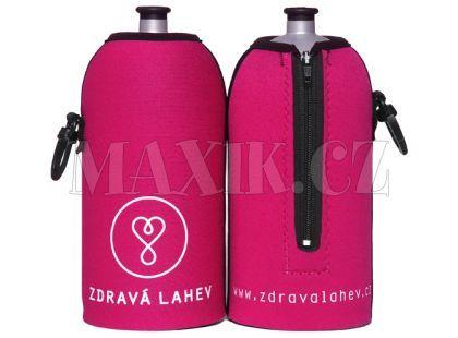 Zdravá lahev Termoobal růžový 0,5l