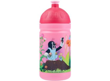 Zdravá lahev Krtek a kalhotky - růžová 0,5l