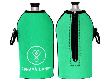 Zdravá lahev Termoobal zelený mint 0,5l