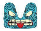 Zipfy Carvingové boby Artist Maori 3