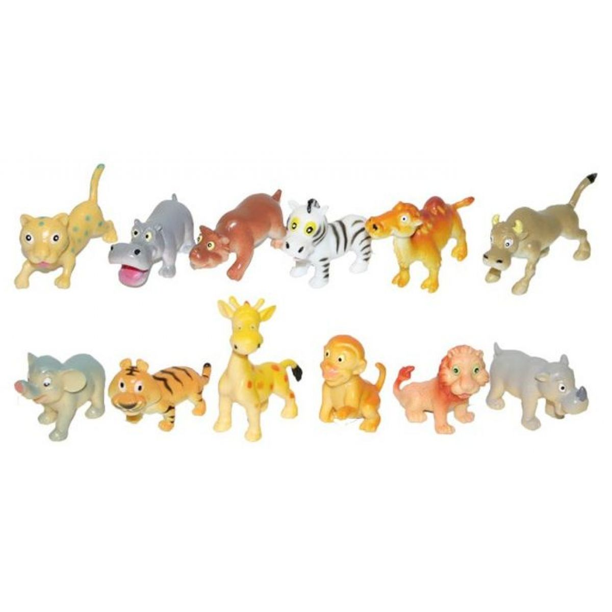 Zvířata veselá divoká 6ks