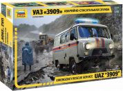 Zvezda Model Kit auto 43002 – Emergency Service UAZ 3909 1:43