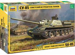 Zvezda Model Kit military 3690 SU-85 Soviet Tank Destroyer 1:35