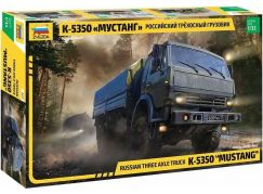 Zvezda Model Kit military 3697 Russian three axle truck K-5350 MUSTANG 1:35