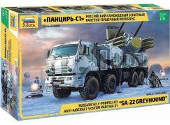 Zvezda Model Kit military 3698 Panzir S-1 SA-22 Greyhound 1:35