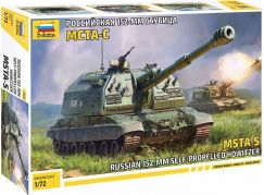 Zvezda Model Kit military 5045 MSTA-S Self Propelled Howitzer 1:72