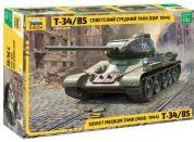 Zvezda Model Kit tank 3687 Soviet Medium Tank T-34 85 1:35