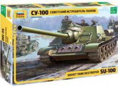 Zvezda Model Kit tank 3688 Soviet S.P.Gun SU-100 new molds 1:35